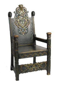 Viking thrones by Lars Kinsarvik