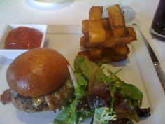 Burger at L'Espalier in Boston, MA