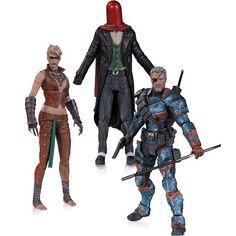 Batman Arkham Origins: Joker as Red Hood, Copperhead & Deathstroke Unmasked 3-Pack | ToyZoo.com