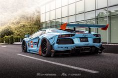 Liberty Walk limited edition body kit paired with exclusive Fi EXHAUST sound. Liberty Walk X Wataru Kato X SKY FORGED X Azzurre Motoring —————————————————— Lamborghini Aventador Limited Edition X —————————————————— Luxury Sports Cars, New Sports Cars, Exotic Sports Cars, Exotic Cars, Sport Cars, Lamborghini Aventador, Ferrari, Muscle Cars, Convertible