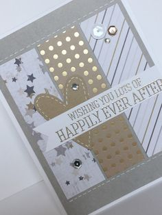 Items similar to Happy Ever After Handmade Wedding Card on Etsy Wedding Cards Handmade, Card Sketches, Unique Jewelry, Handmade Gifts, Happy, Etsy, Vintage, Kid Craft Gifts, Craft Gifts
