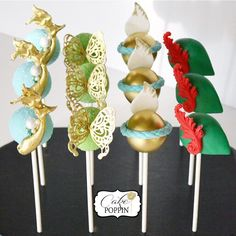 """""""#tbt my recent faves using all my goodies from @partytraincakesupplies Peter Pan themed cake pops featuring all of the bests of Neverland. Tomorrow is…"""""""