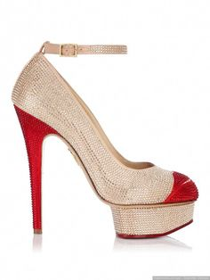 Spitze Pumps Metallic Look Rot. Plasmia Laminated Shoe Guess