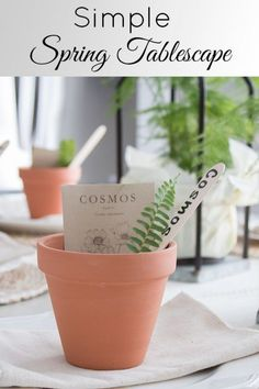 Spring Table Decorations & A Cute Place Setting Idea !  #spring #springdecor #tablescapes
