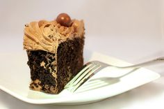 I'm not a big fan of milk dud balls but the chocolate cake part was yummy.   cake