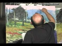 Choosing Subject Matter in Landscape Paintings Part 8 of 11 with Andy Br...