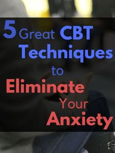 Cognitive behavioral therapy is commonly used to treat anxiety disorders. These five great CBT techniques will give you the ability to eliminate your anxiety from home for free. How To Treat Anxiety, Anxiety Help, Social Anxiety, Health Anxiety, Anxiety Tips, Cbt Therapy, Therapy Tools, Therapy Ideas, Mental Health
