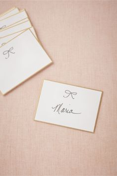 Bow Tie Place Cards (10) from BHLDN