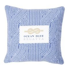 The Hamptons Collection Knit Print Cushion