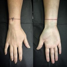 String Bracelet Tattoo by Sharnie Pilar