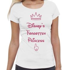 Tricou alb din bumbac cu mesajul 'Disney's Forgotten Princess' , disponibil pe mărimile: XS, S, M şi L. Disney, Mens Tops, T Shirt, Design, Fashion, Supreme T Shirt, Moda, Tee, Fashion Styles