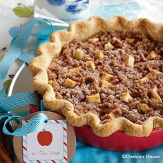 Gooseberry Patch Recipes: Sour Cream-Apple Pie with a cinnamon crumb topping from Gifts from the Kitchen Cookbook