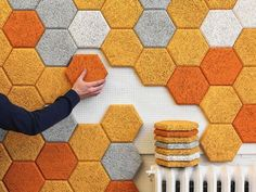 Modular Tiles Brighten Rooms While Soundproofing