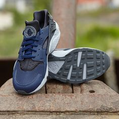 new style 938ec 3fe53 Nike Air Huarache Midnight Navy  Midnight Navy- Dark Ash- Cool Grey