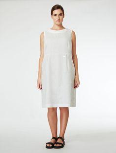 Dual length pure linen dress