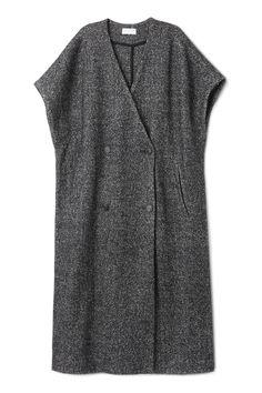 Weekday Alicia Long Vest in Black