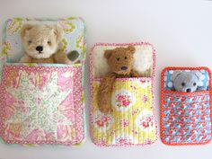 Make It: 3 Bears Sleeping Bags - Free Pattern & Tutorial #sewing