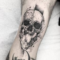 Skull tattoo Art by Blvck Stab