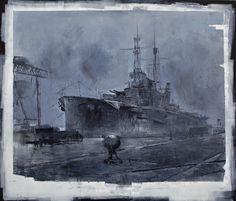 Alexey Alpatov, battleship, 2010 - mixed media on canvas, 150/170cm