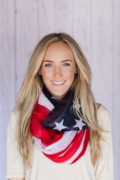 American Flag Infinity Scarf | three bird nest