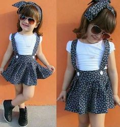 Year Toddler Baby Girl Clothes Set White T-shirt and Overalls Band – Outfitter Style Source by winterrsd girl clothes Kids Dress Wear, Kids Outfits Girls, Little Girl Dresses, Toddler Outfits, Girl Outfits, Kids Wear, Baby Girl Skirts, Toddler Girl Dresses, Baby Dress Design