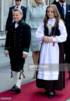 Sverre Magnus & Ingrid Alexandra At The Celebratory Service For King Harald's 25th Anniversary As King.  June 23, 2016