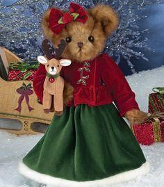 Bearington Joy and Jingle Bear The Bearington Collection is a high-quality and truly affordable plush line loved by collectors worldwide. A Fall 2014 introduction. Christmas Teddy Bear, Cozy Christmas, Xmas, Christmas Items, Christmas Colors, Tartan, Bear Girl, Boyds Bears, Love Bear