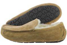 UGG Ascot 5775-CHE Chestnut Suede Wool Slippers Moccasin Shoes Medium (D M) Men
