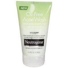 Neutrogena Oil-Free Acne Wash, Redness Soothing Gentle Scrub 4.2 fl oz (124 ml) (Health and Beauty)