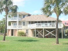 Sullivan's Island Vacation Rental - VRBO 203704 - 5 BR Charleston Area House in SC, 5 Bedroom Spectacular Ocean View Home Sullivans Island, Beach Vacation Rentals, Ocean, Outdoor Structures, Mansions, House Styles, Outdoor Decor, Beautiful, South Carolina