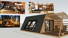 glamping pod with interior - 3D Warehouse