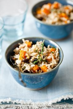 Butternut Squash and coconut milk rice with black beans
