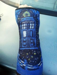 TARDIS cast.... I've broken my arm three times now and it sucked, but this almost makes me want to go and break it again! This is stinking cool!
