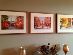 Paintings - Scenes from Boston's North End:  Hanover St. and Paul Revere & Old North Church.  Brownstone on Beacon St.  Bought from an artist on Newbury St. Boston.