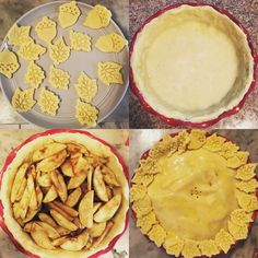 step by step Gluten Free Apple Pie - tools used from Crate & Barrel