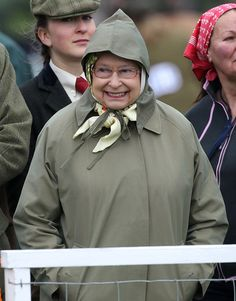 I hate my job....... Queen Elizabeth II attends day 3 of the Royal Windsor Horse Show on May 10, 2013 in Windsor, England.
