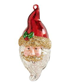 Look at this 7'' Santa Head Ornament on #zulily today!