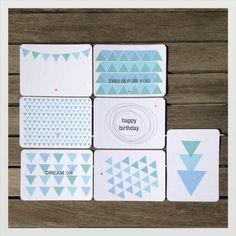 handmade postcards packet    mi+ed design