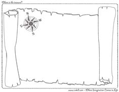 Where is the treasure? CreKid.com - Creative Drawing Printouts - Spark your child's imagination and creativity. So much more than just a coloring page. Preschool - Pre K - Kindergarten - 1st Grade - 2nd Grade - 3rd Grade. www.crekid.com