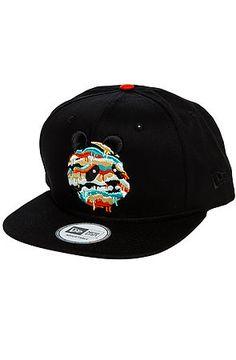 LRG Core Collection Hat Panda Dripper Snapback in Black