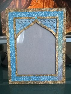 Picture frame I made with chipboard and acetate