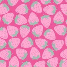 Strawberry - Pink on Pink fabric by siya, available from Spoonflower
