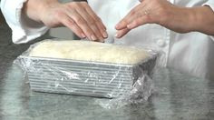 BREAD 101 -- basic white bread: shaping and baking the loaf. Video 3