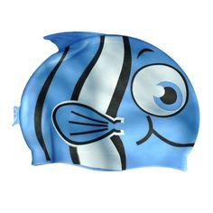 Cartoon Kids Children Girls Boys Cute Printing Swimming Hats Swim Bathing Cap Brand New