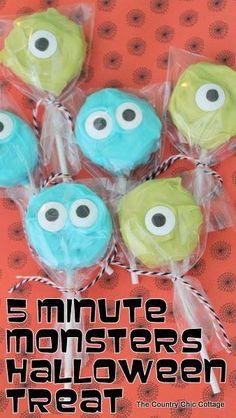 5 Minute Monsters Halloween Treat