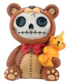 Furry Bones - Honeybear Figurine - Gorey Details