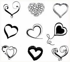 Sketchy Heart Set Valentines Day Hearts, Valentine Heart, Tribal Armband Tattoo, Svg Shapes, Heart Diagram, Bear Tattoos, Heart Outline, Arm Band Tattoo, Love Heart