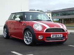 #MyDreamCar  Red Convertible Mini with two White Strips