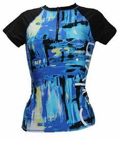 ed1d95d24b4cf Calvin Klein Logo Zip Up Rash Guard Swim Cover Up Cyan Blue XSmall NWT S8 # CalvinKlein #CoverUp