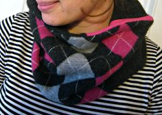 Cozy, recycled cashere scarf